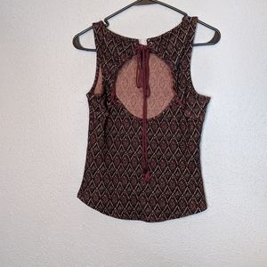 Boho Semi Open Back Free People Tapestry Top